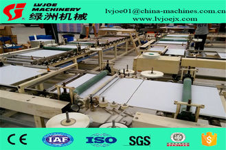 PLC System Gypsum Board Ceiling Tiles PVC Flim Tape Edge Machine 380V